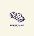 pickup truck logo vector image vector image