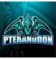 pteranodon mascot esport logo design vector image vector image