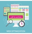 SEO optimization programming process vector image vector image