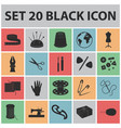 sewing atelier black icons in set collection for vector image vector image