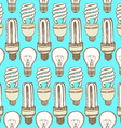 Sketch light bulbs in vintage style vector image vector image