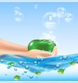 soap bubbles aloe background vector image vector image