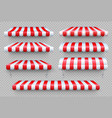 stripe awning cafe tent shop roof canopy vector image vector image