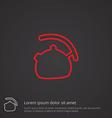 teapot outline symbol red on dark background logo vector image vector image