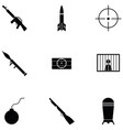 terrorism icon set vector image