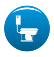 toilet icon blue vector image vector image