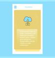 uploading on cloud mobile vertical banner design vector image
