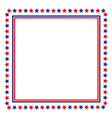 usa flag symbolism frame border vector image vector image
