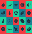 vegetable icons set with ketchup peas apricot vector image