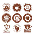 vintage coffee labels and vector image vector image