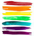 Watercolor Brush Strokes vector image