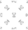 white bears pattern seamless vector image vector image