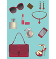 Woman accessories set vector image