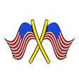 american flags icon cartoon vector image