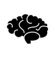 brain icon black sign on vector image