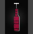 wine bottle logo design background vector image