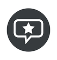 Round dialog star icon vector image