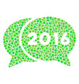 2016 chat composition icon of circles vector image