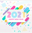 2021 happy new year greeting card with abstract vector image