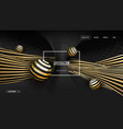 3d gold on black graphic vector image
