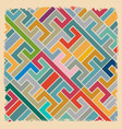 abstract retro geometric backdrop textile vector image vector image