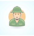 African explorer safari man icon vector image vector image