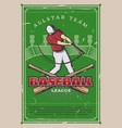 baseball sport league championship poster vector image