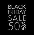 Black Friday Calligraphic Designs Retro Style vector image vector image
