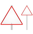 blank-empty triangle road sign vector image