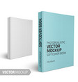 blank vertical softcover book with sample design vector image