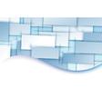 Blue tile transparent background template vector image vector image