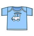 boyish tshirt with car or locomotive kids clothes vector image