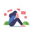 bullying in social media bulling abuse vector image