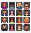 Cartoon avatars vector image vector image