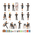characters design set of business people man and vector image vector image
