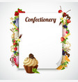 confectionery decorative frame vector image vector image