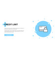 credit limit icon banner outline template concept vector image