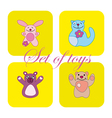 Cute set of toys vector image