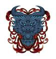 devil head mascot logo vector image vector image