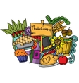 Doodle of thanksgiving color cartoon vector image vector image