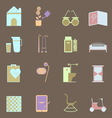 Elderly related colorful icons set vector image vector image