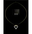 Elegant heart necklace set 1 vector image vector image