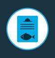 fish menu icon colored symbol premium quality vector image