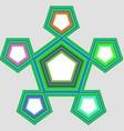 Five part pentagonal infographic element design vector image vector image
