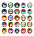 flat cartoon avatars people in protective vector image vector image