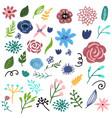 flower graphic design set of floral vector image vector image