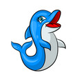 funny cartoon dolphin vector image vector image