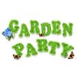 garden party vector image