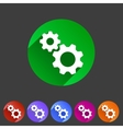 Gear settings flat icon vector image