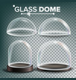 glass dome set advertising presentation vector image vector image